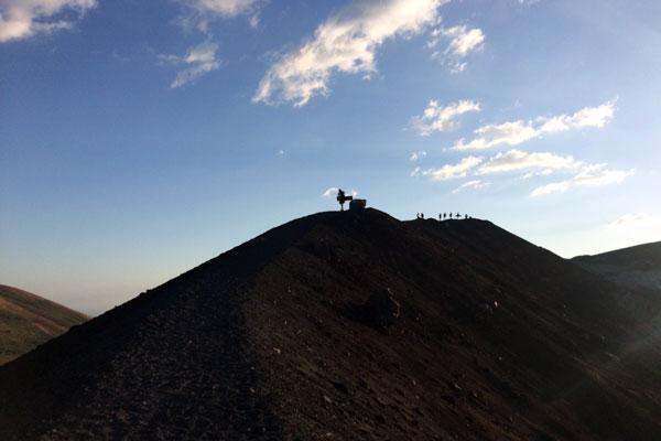 Vulkan Surfen Cerro Negro Aufstieg