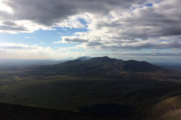 Vulkan Surfen Cerro Negro Ausblick