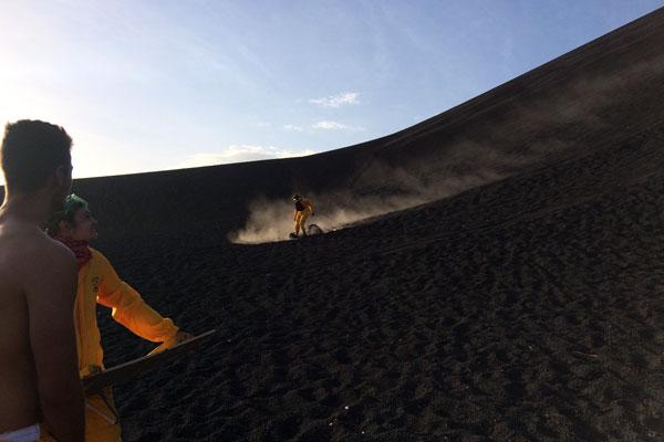 Vulkan Surfen Cerro Negro Ausruestung